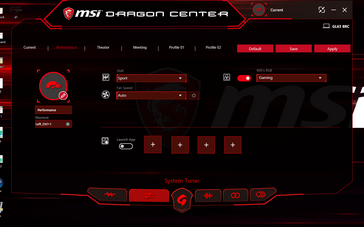 Dragon Center software has been redesigned