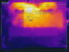 Thermal profile, max load, underside