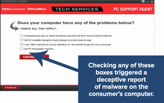 The free Office Depot PC Health Check allegedly operated in a similar fashion to scareware. (Source: FTC)