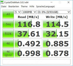 HDD in CrystalDiskMark benchmark