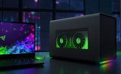 Pair an Ice Lake laptop with an eGPU for optimal framerates, not a Comet Lake-H one. (Image source: NVIDIA)