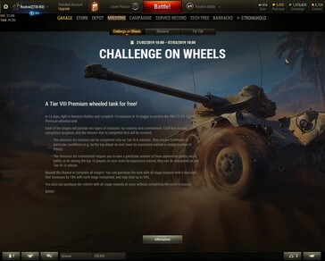 World of Tanks 1.4 - Challenge on Wheels details
