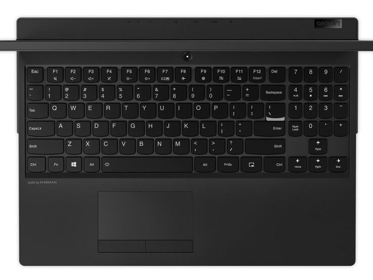 Nhìn vào bàn phím và trackpad