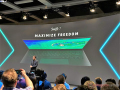 The Acer Swift 7 is expected to feature Intel 'Amber Lake-Y' CPUs and will officially launch in 2019.