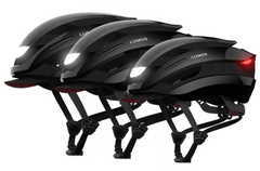 The Lumos Ultra smart helmet can also be fitted with an optional visor. (Image source: Kickstarter/Lumos)