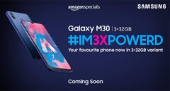 The 'new' Samsung Galaxy M30 will be on sale soon. (Source: Amazon.in)