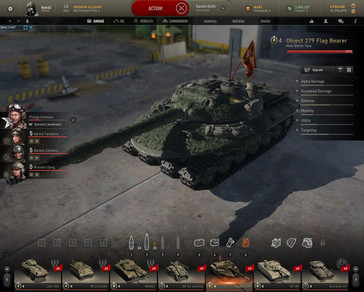 Armored Warfare - Object 279 Flag Bearer premium MBT in garage (Source: Own)
