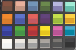 ColorChecker: The target color is displayed in the lower half of every patch