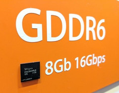 SK Hynix presented its GDDR6 memory chips at GTC 2017. (Source: Tom's Hardware)