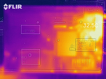 heat map while idling- bottom