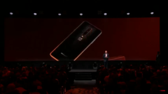 The OnePlus 7T Pro McLaren Edition is introduced on stage. (Source: YouTube)