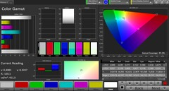 CalMAN: DCI P3 colour space – Vivid colour mode