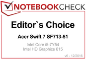 Editor's Choice Award in December 2016: Acer Swift 7