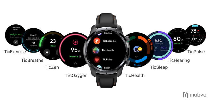 The TicWatch Pro 3 GPS runs WearOS and comes with a host of Mobvoi apps. (Image source: Mobvoi)