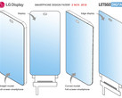 LG's latest version of the smartphone design patent for an in-display camera. (Source: LetsGoDigital)
