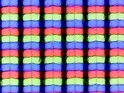 Sub-pixel array: Distortion caused by matte coating