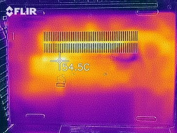 Heat map under load - bottom side