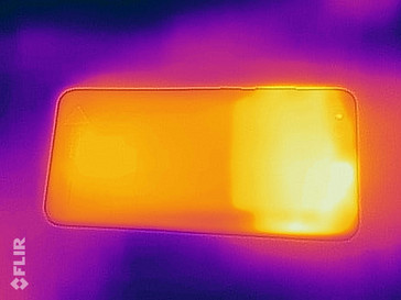 Heat-map of the back of the device under sustained load