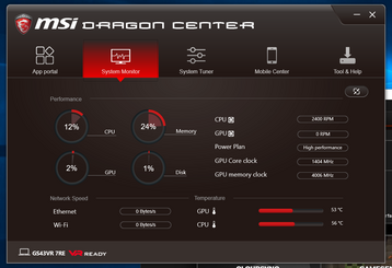 System vitals (idling on High Performance)