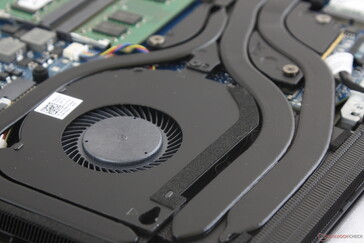 Dual fans with four heat pipes shared between the CPU and GPU