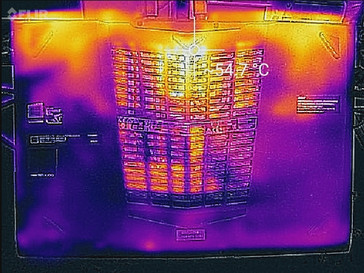 Thermal profile, bottom (max load)
