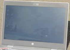 The ProBook outside (shot in direct sunlight on a sunny day).