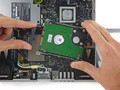 The internal hard drive is the only major component that can be replaced by the end user. (Source: iFixIt)