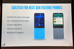 Jolla has announced the third version of Sailfish OS at the MWC. (Source: twitter.com/tnkgrl)