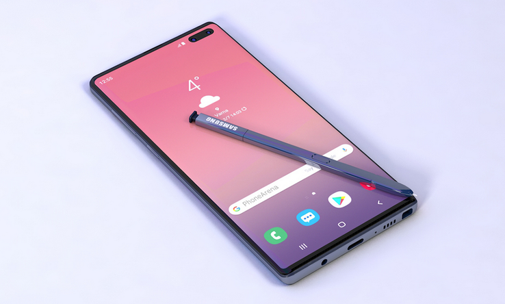 Artistic impression of the next-generation Note phablet. (Source: Phone Arena)