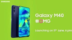One of the Galaxy M40's main selling points is its punch-hole display. (Source: India Today)