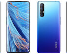 The OPPO Find X2 Neo also comes in blue for the global market. (Image source: CNMO)