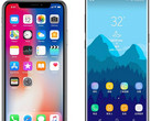 Apple iPhone X and Samsung Galaxy Note 8