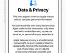 Apple iOS 11.3 incorporates a new privacy icon alerting users when their personal data is required. (Source: Apple)