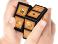 Popular smartphone game Cut the Rope has be reimagined for the WOWCube. (Image: CubiOs Inc)