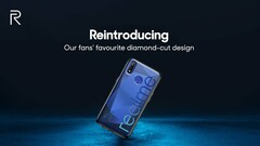 The Realme 3 is expected to sport a diamond-cut finish. (Source: Realme on Twitter)