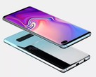 Renders of the Samsung Galaxy S10+. (Source: OnLeaks)