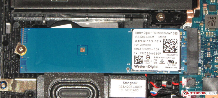 A look at the WDC PC SN520 SSD in our review unit.