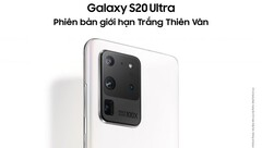 The Galaxy S20 Ultra Limited Edition White. (Source: Samsung Vietnam)