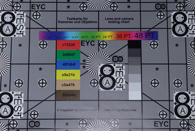 Image taken of the test chart