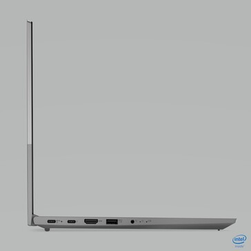 Lenovo ThinkBook 15 Gen2 left side port selection. (Source: Lenovo)
