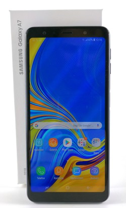 Review: Samsung Galaxy A7 (2018). Test unit provided by notebooksbilliger.com