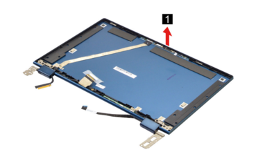 This screenshot from the Maintenance Manual shows the hinges appearing to be relatively unsupported. (Image source: Lenovo)