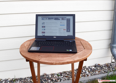Dell Inspiron 15 7000 in the shade