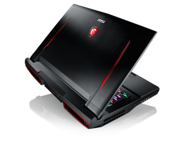 Back view of the GT75 Titan 8RG (Source: MSI)