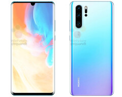 The Huawei P30 Pro will pick up a smaller teardrop notch and a quad-camera set up on the rear. (Source: WinFuture)