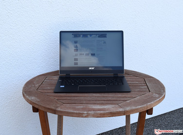 Using the Acer Swift 7 SF714 in the shade