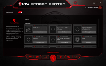 Dragon Center Gaming Mode.