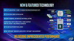 Intel Core 9th generation Desktop CPU features (Source: Intel)