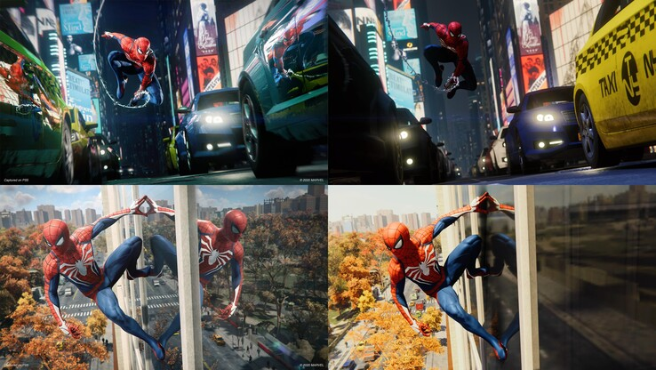 PS5 left and PS4 right. (Image source: Insomniac Games via Reddit)
