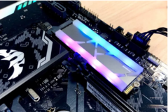 The Klevv CRAS X M.2 NVMe SSD sports wireless RGB LEDs. (Source: KitGuru)